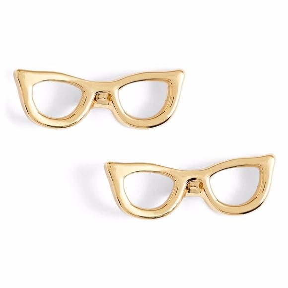 1a1c12a29e78d Kate Spade Lookout Glasses Studs Goreski Earrings NWT